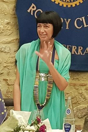 Paola Mocerino Presidente Rotary Volterra